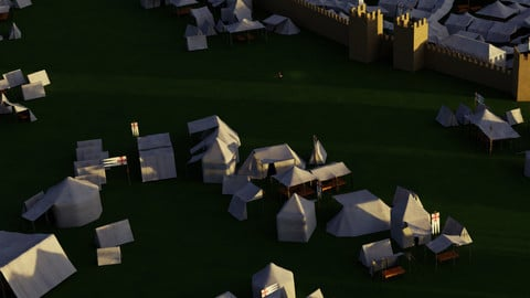 Pack of Medieval Tents
