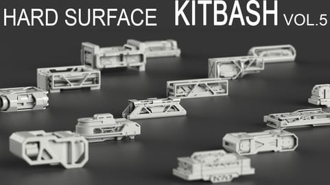 Hard Surface KitBash Vol 5