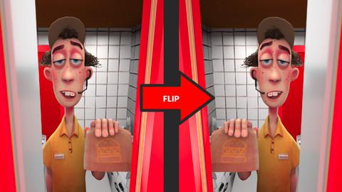 Photoshop Action: Flip layer horizontally