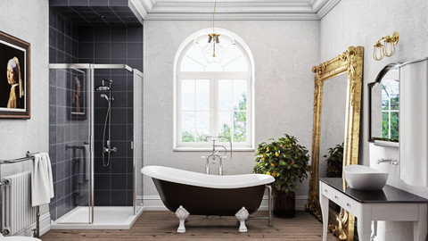 Victorian Bathroom 3D Model
