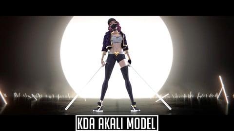 K/DA Akali Model