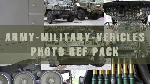 PHOTO REFERENCE PACK - ARMY/MILITARY/VEHICLES -