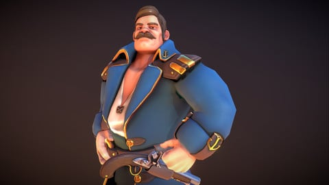 Sea Captain - Stylised Skinned PBR Character