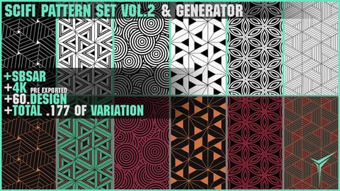 +60 SCIFI PATTERN SET VOL.2 & GENERATOR