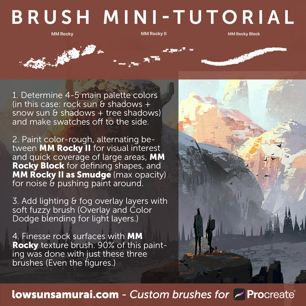 ArtStation - Rocky Brush Set For Procreate by Mike McCain