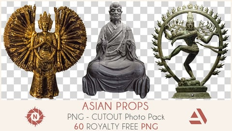 PNG Photo Pack: Asian Props