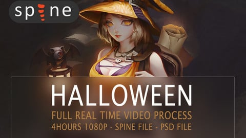 [Fundraising] HALLOWEEN animation SPINE: Full real time process