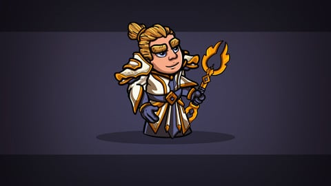 2D Fantasy Human Priest