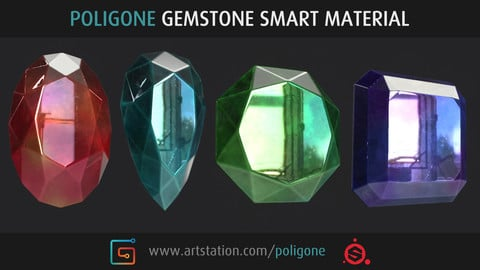Poligone Gemstone Smart Material for Substance Painter