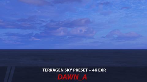 Terragen 4 sky preset--DAWN_A
