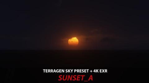 Terragen 4 sky preset -- SUNSET_A