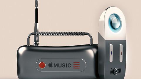 Apple Music Radio (obj and iges files)