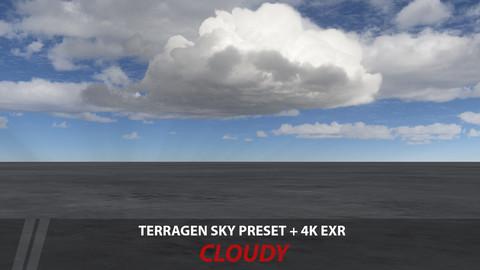 Terragen 4 sky preset -- Cloudy