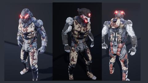 (unreal engine 4) CYBORG SOLDIER V2