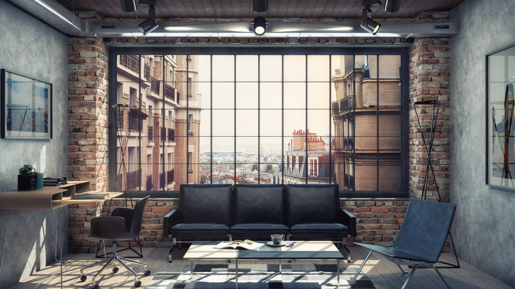 Minh Tran Industrial Living Room Vray 3 6 For Sketchup