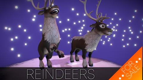 Reindeers - Rigged Model