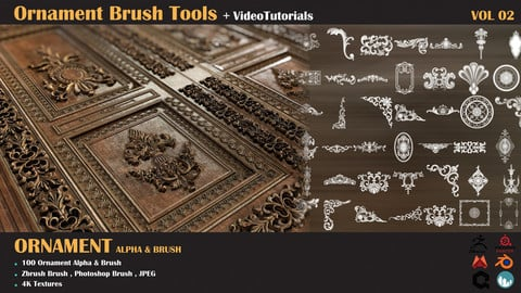 Brush Tools-Ornament VOL-02+Tutorial