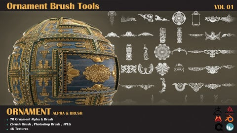 Brush Tools-Ornament VOL-01