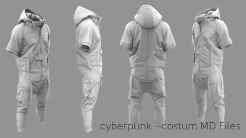 Cyberpunk Costume - Marvelous Designer