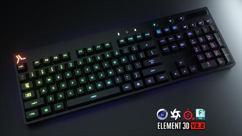 Wireless RGB Computer Keyboard 3D Model