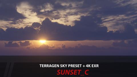 Terragen 4 sky preset -- Sunset_C