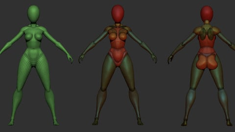 Stylized Female Base mesh