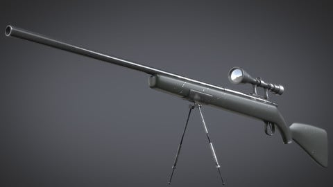 Sniper Rifle - Stylized
