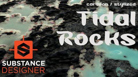 Cartoon / Stylized Tidal Rocks