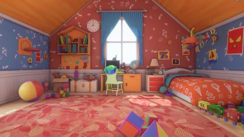 Asset - Cartoons - Bed Room