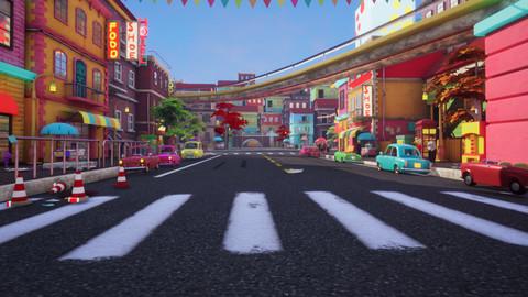 Asset - Cartoons - Street 3D Model