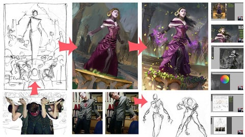 Liliana Painting Process - Commentary Video