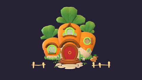 Asset - Cartoons - Background - House Carrot - 3D Models
