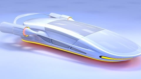 3D Futuristic Car HD 12