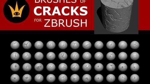 Brushes of Cracks for Zbrush