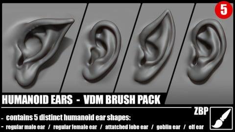 Humanoid ears VDM brush pack
