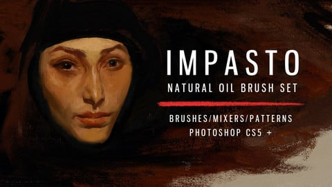 Impasto natural oil brushes for PS CS5+