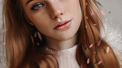 Realistic Portrait Painting  (70 layers + 10 Bonus Illustration JPG Files ! )