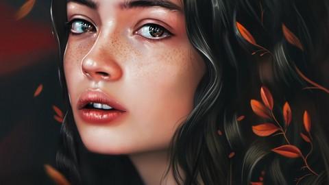 Realistic Portrait Painting  ( 70 layers + 10 Bonus Illustration JPG Files ! )