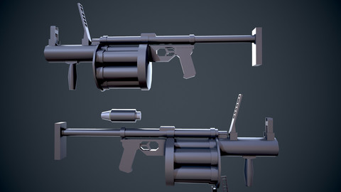 Game Weapon Pack (30 assets,Low Poly)