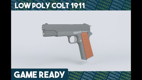 M1911 Pistol - Low Poly