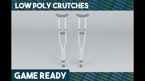 Crutches - Low Poly