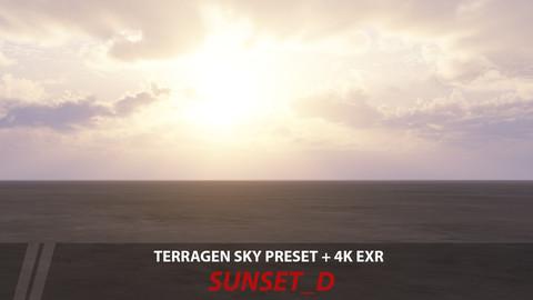 Terragen 4 sky preset -- Sunset_D