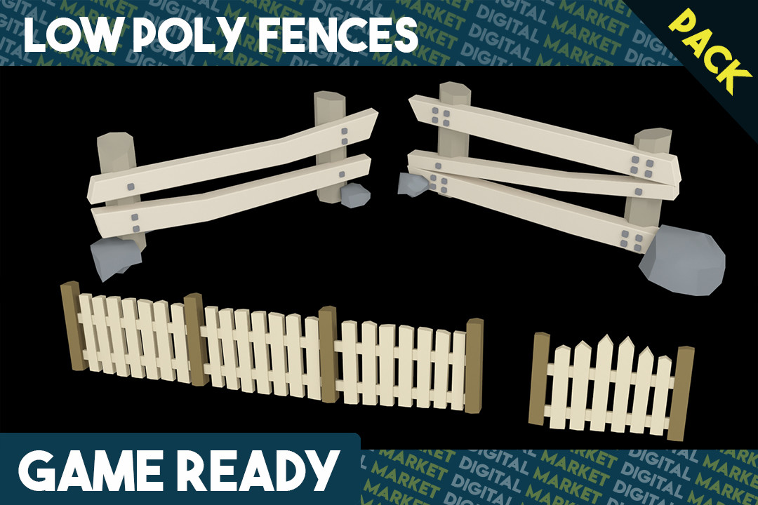 Fence Pack - Low Poly