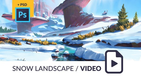 Snow Landscape Video Process / PSD