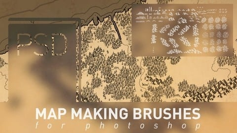 Map making brushes for photoshop