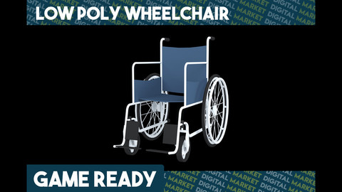 Wheelchair - Low Poly
