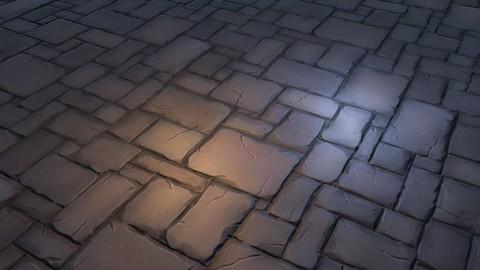 Handpaint Stones Floor Texture