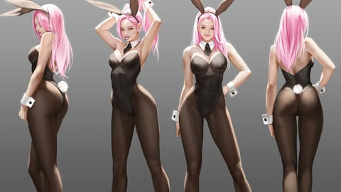 Bunny Girls [PSD,VIDEO and Brush]
