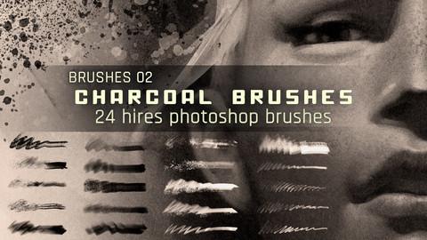 Realistic Charcoal Photoshop Brushes
