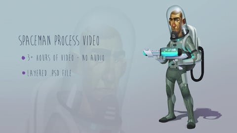 Spaceman Character Concept Process Video